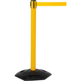 WeatherMaster Yellow Post Retracting Belt Barrier, 11 Ft. Yellow Belt