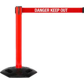 WeatherMaster 300 Red Post Retracting Belt Barrier, 16 Ft. Red Danger Belt