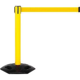 WeatherMaster 300 Yellow Post Retracting Belt Barrier, 16 Ft. Yellow Belt