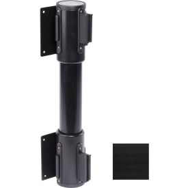 WallPro Twin Black Post Retracting Belt Barrier, 15 Ft. Black Belt