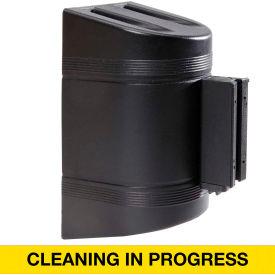 WallPro 300 Black Wall Mount Retracting Barrier, 7.5' Yellow/Black CLEANING IN PROGRESS Belt