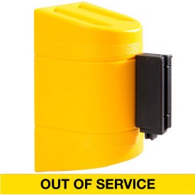 WallPro 300 Yellow Wall Mount Retracting Barrier, 7.5' Yellow/Black OUT OF SERVICE Belt