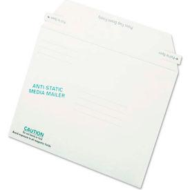 Quality ParkTM Antistatic Fiberboard Disk Mailers, 6x8-5/8, White, 25/Box