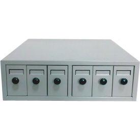 "Quincy Lab Microscope Slide Cabinet, 18-3/4""W x 4-7/8""D x 15-3/4""H, Beige"