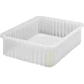 Quantum Clear-View Dividable Grid Container DG93060CL - 22-1/2 x 17-1/2 x 6 - Pkg Qty 3