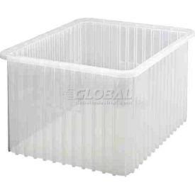 Quantum Clear-View Dividable Grid Container DG93120CL - 22-1/2 x 17-1/2 x 12 - Pkg Qty 3