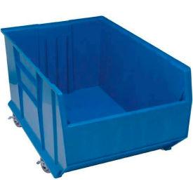 """Quantum Plastic Mobile Rack Bin QRB256MOB 23-7/8""""W x 41-7/8""""D x 17-1/2""""H Blue"""