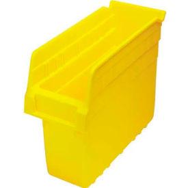 """Quantum Nesting Storage Bin QSB801 Plastic, 4-3/8""""W x 11-5/8""""D x 8""""H, Yellow - Pkg Qty 36"""