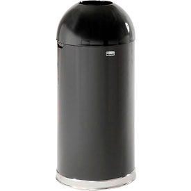 Rubbermaid® R1536EOTPL 15 Gallon Round Open Top Trash Can with Plastic Liner, Black