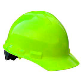 Radians GHR4 Granite Cap Style Hardhat, 4 Point Ratchet, Hi-Viz Green by