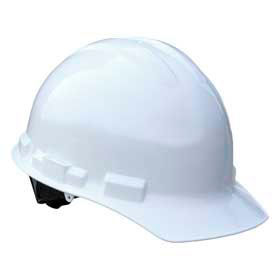 Radians GHR4 Granite Cap Style Hardhat, 4 Point Ratchet, White by