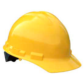 Radians GHR4 Granite Cap Style Hardhat, 4 Point Ratchet, Yellow by