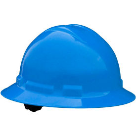 Radians QHP4 Quartz Full Brim Hardhat, 4-Point Pinlock Suspension, Blue by