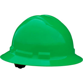 Radians QHP4 Quartz Full Brim Hardhat, 4-Point Pinlock Suspension, Green by