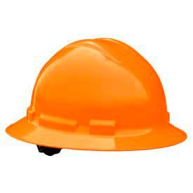 Radians QHP6 Quartz Full Brim Hardhat, 6 Point Pinlock, Hi-Viz Orange by