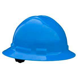Radians QHR6 Quartz Full Brim Hardhat, 6 Point Ratchet, Blue by