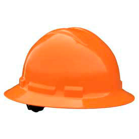 Radians QHR6 Quartz Full Brim Hardhat, 6 Point Ratchet, Orange by