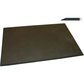 "Rhino Mat 1/2"" Thick Polaris Static Dissipative Workstation Anti-Fatigue Mat, 3' x 5' Black - PC3660"
