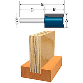 "BOSCH® 84602M 23/32"" 1/4"" Shank 3/4"" Cutting Edge Length Plywood Mortising Bit"