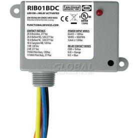 RIB® Dry Contact Input Relay RIB01BDC, Enclosed, 120VAC, 20A, SPDT