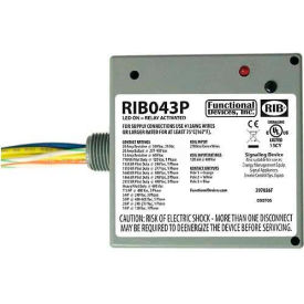 RIB Enclosed Power Relay RIB043P, 20A, 3PST, 480VAC by