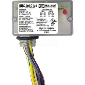 RIB® Enclosed Relay RIB2401D-N4, 10A, NEMA 4/4X, DPDT, 24VAC/DC/120VAC