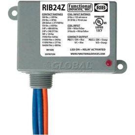 RIB Enclosed Power Relay RIB24Z, 30A, SPST-NO, SPST-NC, 24VAC/DC