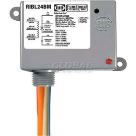 RIB Enclosed Latching Relay RIBL24BM, 20A, 24VAC/DC, W/Aux Contact by