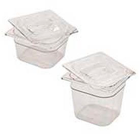 Rubbermaid G106P00 - Clear Cold Food Containers, 1/6 Size, 2-1/2 Quarts - Pkg Qty 6