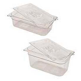 Rubbermaid Commercial Fg117p00 Clr Cold Food Container - 4 Quarts - Pkg Qty 6