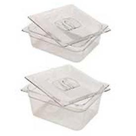 Rubbermaid Commercial FG125P00 Clr Cold Food Container - 9-1/3 Quarts - Pkg Qty 6