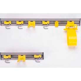 """Rubbermaid® 18""""W Closet Organizer/Tool Holder, 2 S-Hooks 1 Double Hook - RCP199200GY"""