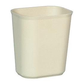 Rubbermaid® 14 Qt. Fiberglass Wastebasket, Beige - RCP254100BG