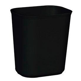 Rubbermaid® 14 Qt. Fiberglass Wastebasket, Black - RCP254100BK