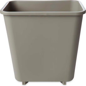 Rubbermaid® 8 Qt. Deskside Rectangular Plastic Wastebasket, Beige - RCP2952BEI