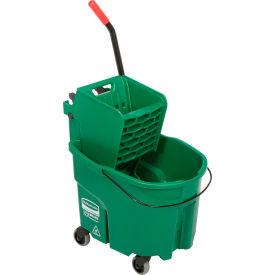 Rubbermaid WaveBrake® 2.0 Side Press Mop Bucket & Wringer Combo - Green