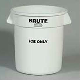 """Rubbermaid Commercial Fg9f8600wht Brute® """"Ice Only"""" Container - Pkg Qty 6"""