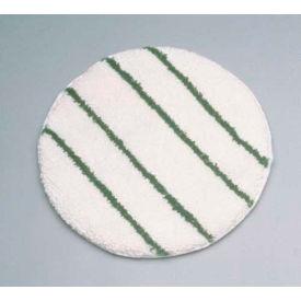 """Rubbermaid® 21"""" Low Profile Scrub Strip Carpet Bonnet, White/Green - RCPP271"""