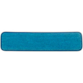 "Rubbermaid® 24"" Microfiber Wet Room Pads, Blue 12/Case - Q411"