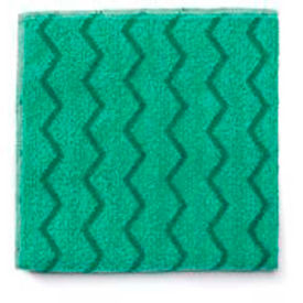"Rubbermaid® Reusable Microfiber Cleaning Cloths 16"" x 16"", Green 12/Case - RCPQ620"