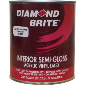 Diamond Brite Interior Semi-Gloss Paint, High Hiding White 32 Oz. Pail - 21050-4