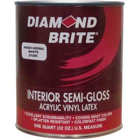 Diamond Brite Interior Semi-Gloss Paint, High Hiding White 32 Oz. Pail - 21050-4