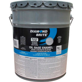 Diamond Brite Oil Enamel Gloss Paint, Black 5 Gallon Pail 1/Case - 31100-5