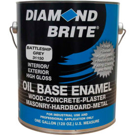 Diamond Brite Oil Enamel Paint, Battleship Gray Gallon Pail 1/Case - 31150-1