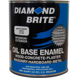 Diamond Brite Oil Enamel Paint, Battleship Gray 32 Oz. Pail 1/Case - 31150-4