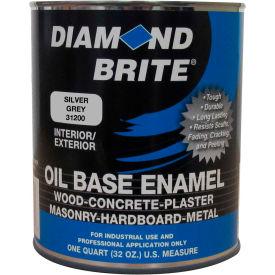 Diamond Brite Oil Enamel Paint, Silver Gray 32 Oz. Pail 1/Case - 31200-4