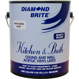 Diamond Brite Latex Kitchen & Bath Paint, Gallon Pail 1/Case - 40400-1