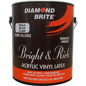 Diamond Brite Bright & Rich Latex Paint, Bold Blue 32 Oz. Pail - 51300-4