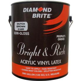 Diamond Brite Bright & Rich Latex Paint, Dutch Brown Gallon Pail 1/Case - 51600-1