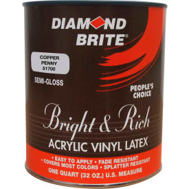 Diamond Brite Bright & Rich Latex Paint, Copper Penny 32 Oz. Pail - 51700-4